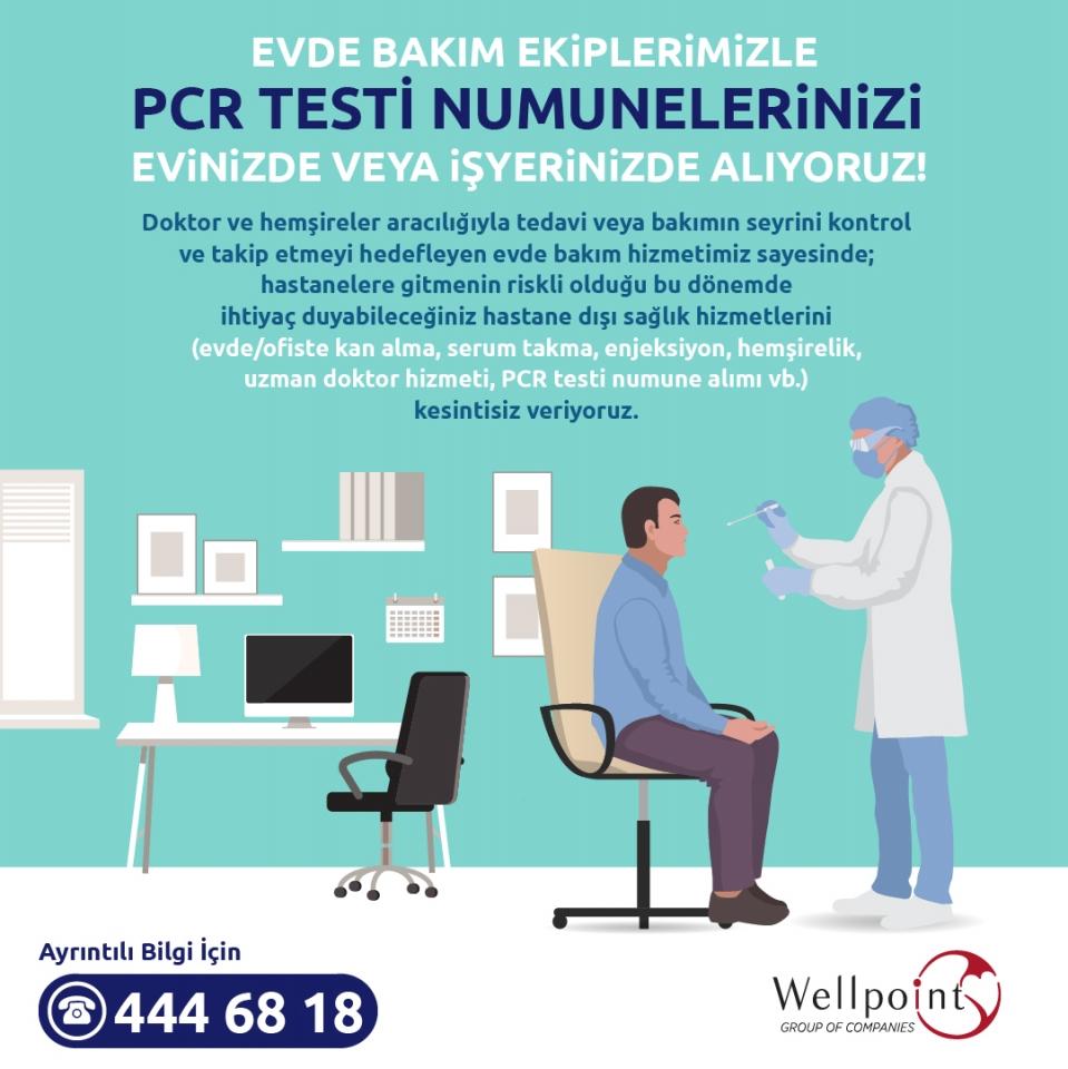 Evde Bakım Ekiplerimizle PCR Testi Numunelerinizi Evinizde ya da İşyerinizde Alıyoruz